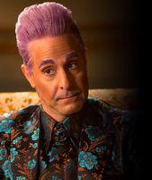 Caesar interviewing Peeta on Mockingjay
