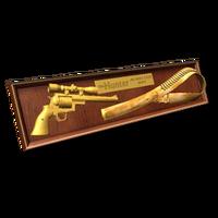 Plaque 44 gold