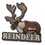 Reindeer badge