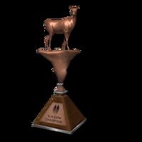 Trophy elk cow bronze