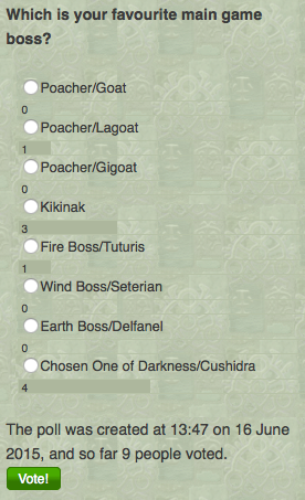 Poll 3 - Which is your favourite main game boss?