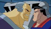 Superman and Mongul meet
