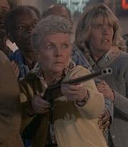 Granny Gordon with shotgun