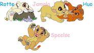 Kutambaa's four cubs