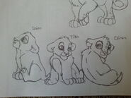 Cheena and kent s cubs shiro tika and gina by gingalover123-d97dsnc