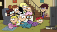 S1E09A Loud siblings and Clyde all together