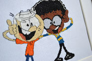 Clyde McBride and Lincoln from the Loud House Cross-Stitch
