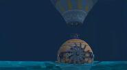 Hot air balloon back