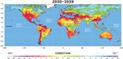 Drought conditions 2030-2039