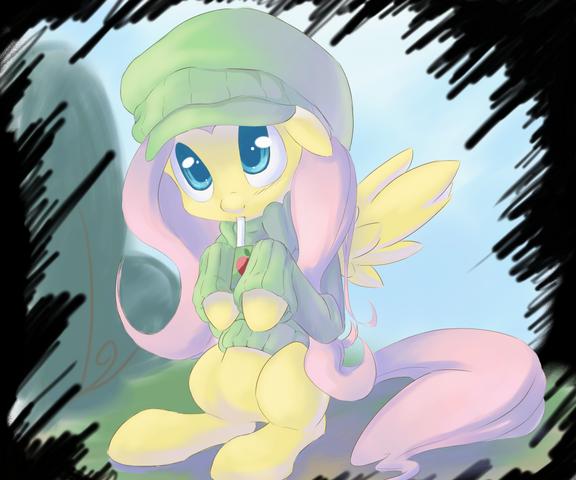 File:100809 - artist KamikazedelBVH beanie cute fluttershy juice box sweater.png
