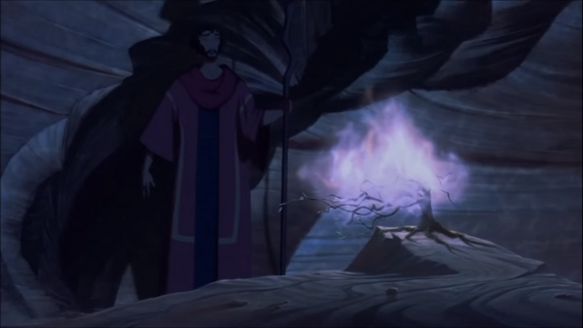 File:Moses stumbles upon the Burning Bush in a cave.png
