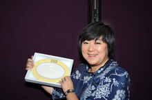 Linda displaying lingnan plate