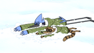 S4E26.234 Mordecai and Rigby Laying on the Snow