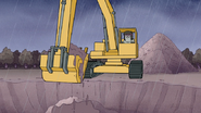 S7E08.127 Muscle Man Digging Up the Crash Pit