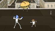 S6E27.106 Mordecai and Rigby Cornering the Sandwich