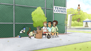 S4E31.043 Mordecai and Rigby Sneaking in the Country Club