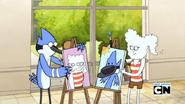 S5E26Mordecai & CJ painting