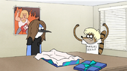 S7E06.023 Older Teenage Rigby Wearing Older Teenage Mordecai's Gift