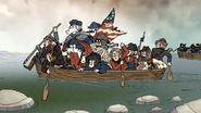 S6E21.144 George Washington Crossing the Delaware River