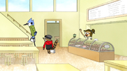 S7E18.006 Mordecai and Rigby Leaving the Coffee Shop