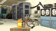 S7E06.129 Rigby Trying to Slice an Orange Soda Bottle