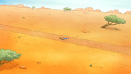 S6E13.065 Mordecai and Rigby Laying on the Road