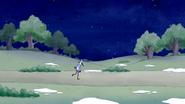 S6E11.001 Mordecai Walking Alone