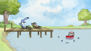 S7E09.040 Mordecai and Rigby Throwing Soda in the Cooler