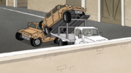S4E18.040 Car Carrier Trailer Jump Fail