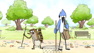 S6E06.008 Mordecai and Rigby Picking Up Litter