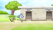 S6E08.089 Mordecai and Rigby Heading to the A.V. Equipment Rental