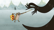 S4E25.169 Rigby Fighting the Stress Monster