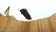 S7E08.157 Muscle Man Driving Into the Crash Pit
