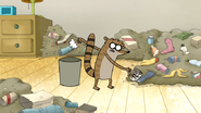 S5E05.042 Rigby Throwing Trash Away