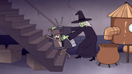 S7E09.351 Chocolate Witching Trying to Prevent Rigby From Escaping