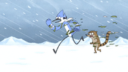 S4E26.239 Mordecai and Rigby Outgrowing Their Coat