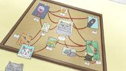 S7E07.077 Cat Conspiracy Board