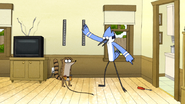 S6E07.075 Mordecai Asking Rigby to Hand Him the Screwdriver