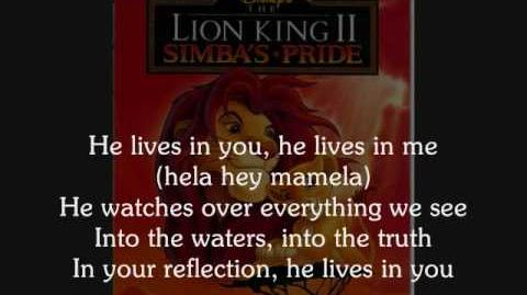 Lion King II - He Lives in you Lyrics
