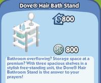 Dove Hair Bath Stand