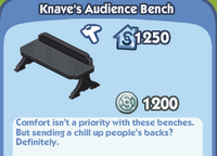 Knave's Audience Bench