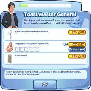 Toast Master General quest