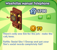 WiseFellas Manual Telephone