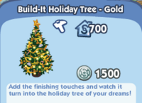 Build-It Holiday Tree - Gold