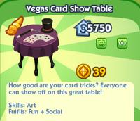 Vegas Card Show Table