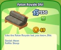 Futon royale dbl