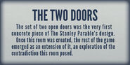 Museum Two Doors Room Plaque