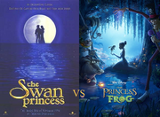 Swan Princsss vs Princess and the Frog early poster