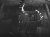 The Thing is electrocuted - The Thing (1951)