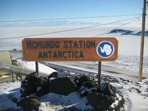 McMurdo Station sign fixed